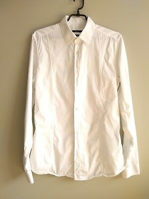 6912d61a5 GUCCI MEN'S WHITE Washed Muslin Duke Band Collar Shirt - $189.00 ...
