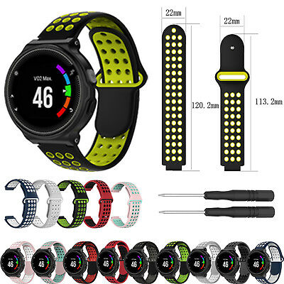 Silicone Watch Band Strap w/Toos for Garmin Forerunner 220 230 235 630 620 735XT