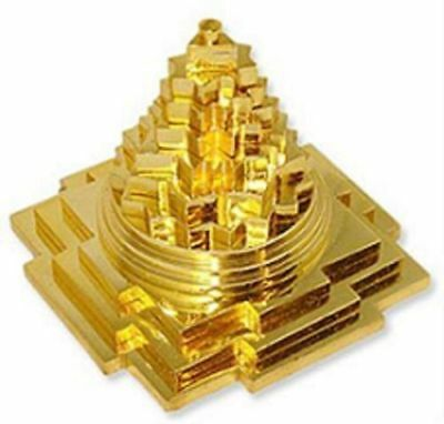 MERU SHREE YANTRA IN BRASS PANCHADHATU METAL FOR POOJA,SHRI YANTRA - 2 x 2  L/W