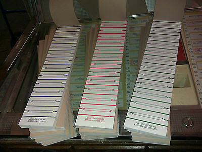 A Book Of 600 Perforated Juke Box Title Strips Record Labels Selection Cards