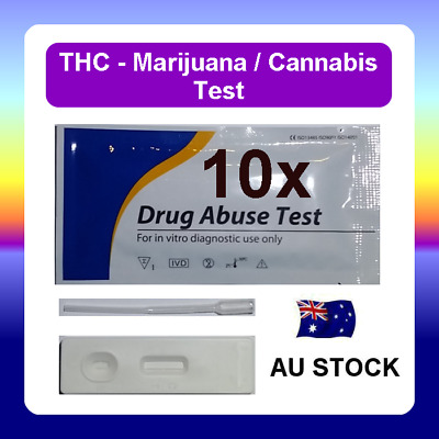 10 x Urine Drug Test Screen Testing Kit CASSETTE for THC (Marijuana) Cannabis