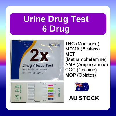 2 x Urine Drug Test Screen Testing Kit THC (Marijuana) MET Amphetamines Ecstasy
