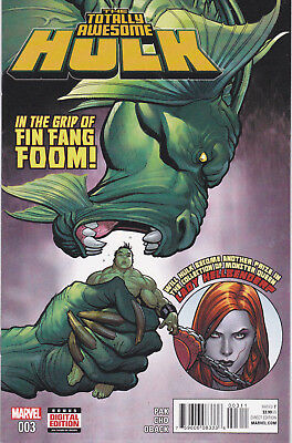 TOTALLY AWESOME HULK 3 - 1st CAMEO APP KID KAIJU (MODERN AGE 2016) - 9.0