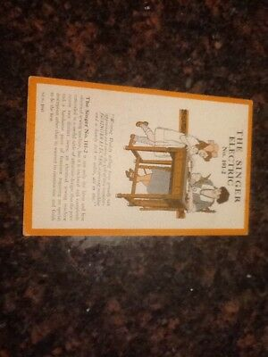 Vintage Trade Card Singer Sewing Machine No. 101-2