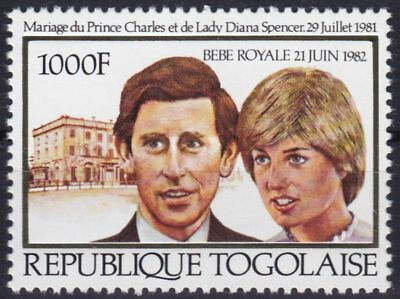 Togo Mi-Nr. 1534 Gold **, Royal Wedding - Charles & Diana