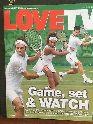 UK Love TV Magazine June 30 2018: Novak Djokovic Roger Federer Keith Lemon