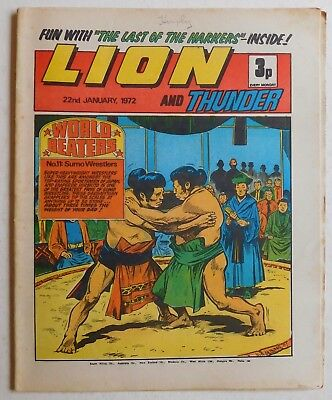 LION and THUNDER Comic - 22nd January 1972