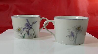 2 Block Spal Hillside  Cup Mug   Watercolors by Mary Lou Goertzen Portugal 1981