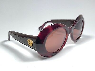 0ee64230f3a35 New Vintage Gianni Versace 418 P Dark Tortoise   Leather1990  s Italy  Sunglasses