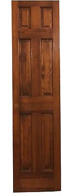 Antique Reclaimed Sliding Door Heavy Oak Six Beveled Panel Architectural Salvage