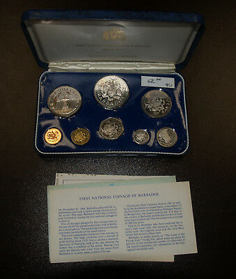 1973 Barbados - First National Coinage Proof Set - Original Package w/COA