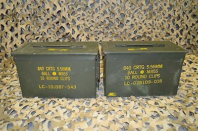 2 PACK - 50 Cal M2A1 AMMO CAN EXCELLENT CONDITION * FREE SHIPPING *