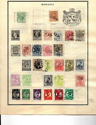 Romania 70 stamps fro an old scott album used vf 1880-1940