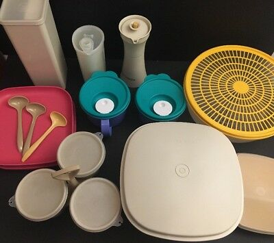 Vintage Lot of 14 TUPPERWARE Pieces Quality Plastic Kitchen Ware