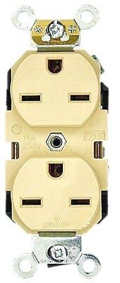 (K) Leviton Grounding Duplex Receptacle 5662-A (Almond) Box Of 10