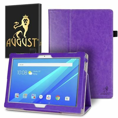Genuine August Purple Luxury PU Leather Smart Case Cover For Lenovo Tab 4 10