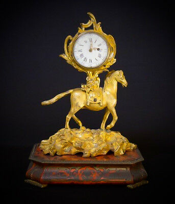 A Fine Early 18Th Century French Gilt-Bronze Mantle Clock.