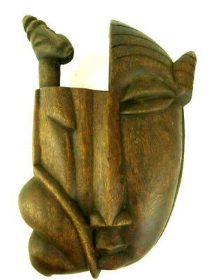 Vintage African Senufo Carved Mask Poro Society Unusual