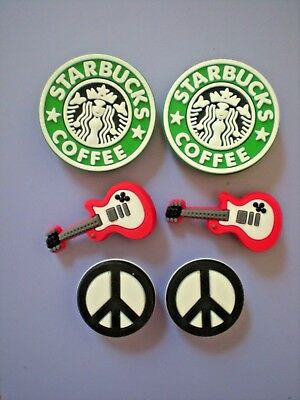 Croc Clog Jibbitz Charm Shoe Plug Button Accessories Bracelet 6 Starbucks Guitar