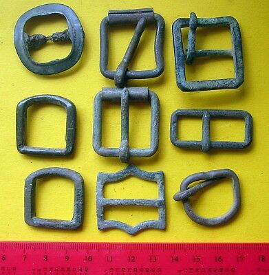 Lot Of Old Bronze Brass Buckles