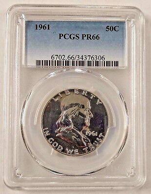 1961 Proof Franklin Half Dollar PCGS PR66 Uncirculated Graded Silver 50C Coin
