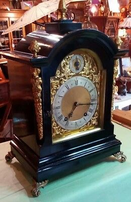 antique mantle clock by Winterhalder and Hofmeier, 8 day, fully serviced,