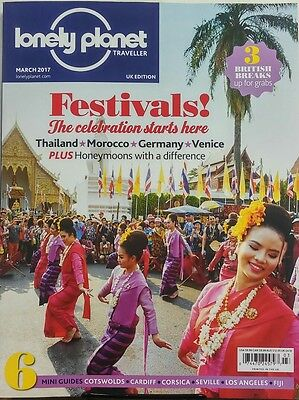 Lonely Planet Traveller UK March 2017 Festivals Thailand Venice FREE SHIPPING sb