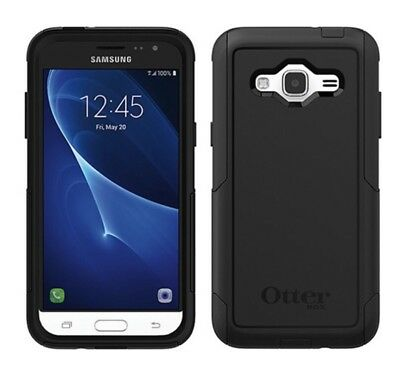 NEW OtterBox Commuter Samsung Galaxy J3 J3V Dual Layers Case Snap Cover Black