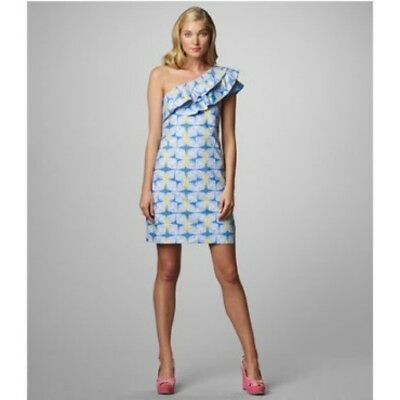 53d79ad18b0ad7 NEW LILLY PULITZER Starfruit Yellow SANDRA One Shoulder Dress MSRP ...