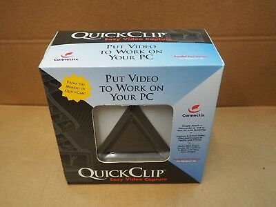 Connectix Quick Clip Easy Video Capture / Video To PC Windows 95+ 480 RES