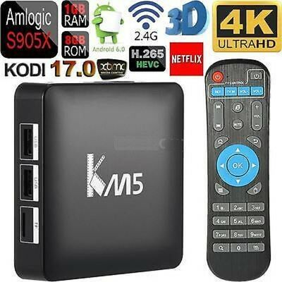 KM5 QUAD CORE ANDROID SMART TV IPTV BOX + KEYBOARD MOUSE