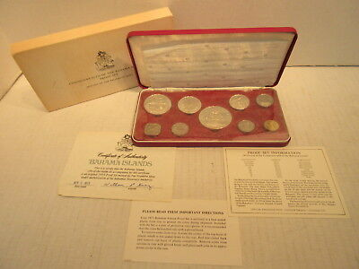 1973 Commonwealth Of The Bahama Islands 9 Coin Proof Set PS8 Franklin Mint