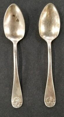 """Antique Towle Silverplate Shell II Small Miniature 4.5"""" Spoons Lot of 2"""