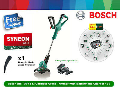 EX Bosch ART 26-18 LI Cordless Grass Trimmer With Battery and Charger 18V