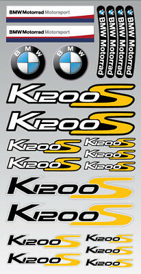 K1200S motorrad motorcycle decal set premium stickers bmw K1200 S Laminated yel