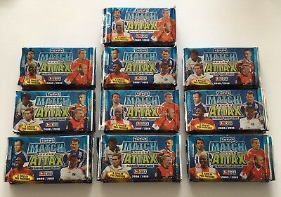 Topps Match Attax Display Mit 100 Booster Fussball Sammelkarten Saison 2009/2010