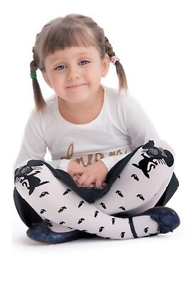 Animal Patterned Kids Tights White Panda by Knittex