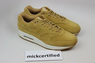 sports shoes 4ecb7 6c246 Nike Air Max 1 Premium Flax Men s sz 9.5 Gum Medium Brown 875844-203