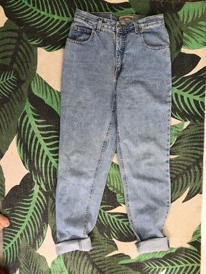 Vintage Jeans 90s 1991 High Waisted Tapered Leg Light wash Classic Mom Jeans 10