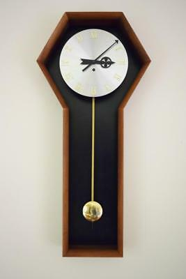 VTG MCM George Nelson Howard Miller Arthur Umanoff Wall Clock 567 Walnut Brass