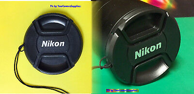 NIKON SNAP-ON CENTER-PINCH LENS CAP 52mm +HOLDER  to Camera 52 mm filter threads