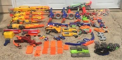 Huge lot of 30 Nerf guns Plus Extra Accessories