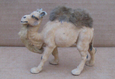"Camel 2 Humps Flocked Germany 3-1/4"" Long Figurine"