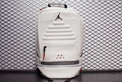 b26d90311cd434 NIKE AIR JORDAN Retro 3 Iii White Cement Backpack New With Tags ...