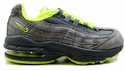save off 0e54f bbfdd Nike Air Max 95 Leather Kids Preschool Running Shoes Cool grey Green  311524-031