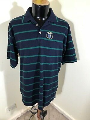 St Andrews Golf Course Scotland Official Merchandise 100% Cotton Navy Polo Sz Xl