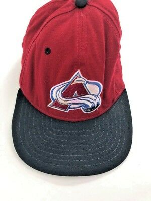 61696a41d76a17 ... denmark vintage colorado avalanche new era low profile nhl hat cap made  in usa hockey 62c2f