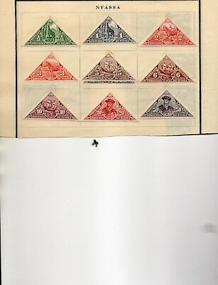 Nyassa 14 stamps xf mint & used from an old scott album 1911-1924 2 pages