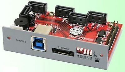 Addonics 5-Port Hardware Port Multiplier - Turn 1xeSATA OR USB3.0 into 5xSATA-II