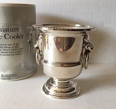 Viners Sheffield England Miniature Reproduction 1800's Silver Plate Wine Cooler